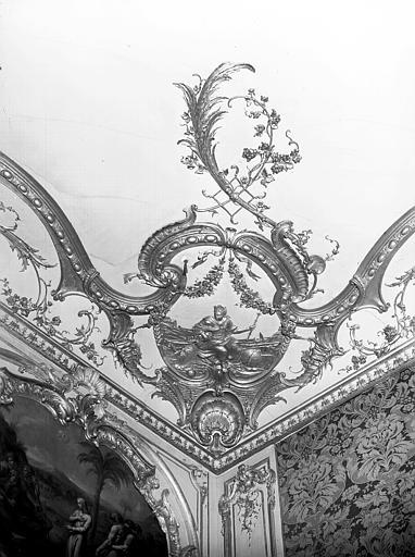 Angle corniche : cartouche