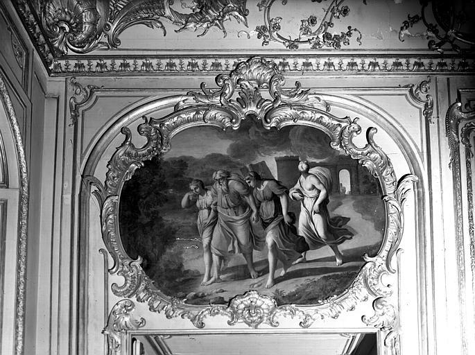 Salon de l'Assemblée, peinture du dessus de porte : Histoire des filles de Loth
