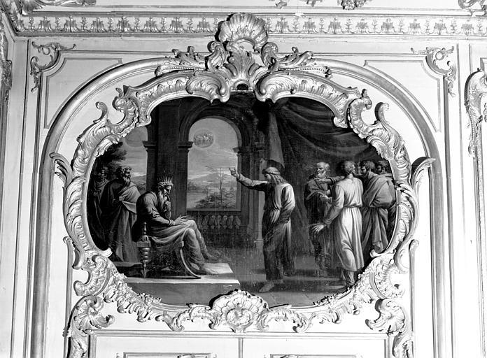 Salon de l'Assemblée, peinture du dessus de porte : le Songe de Joseph d'après les loges de Raphaël