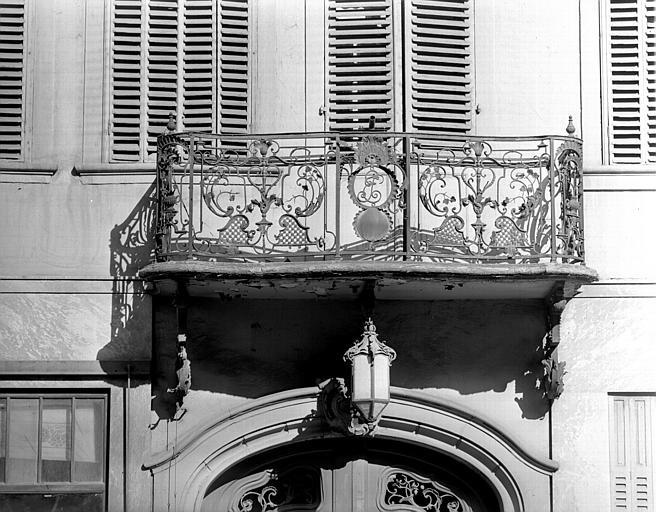 Détail du balcon