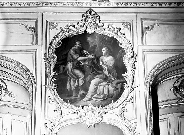 Chambre du Dais, peinture du trumeau : Tentation du Christ