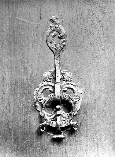 Petit jardin : marteau de porte