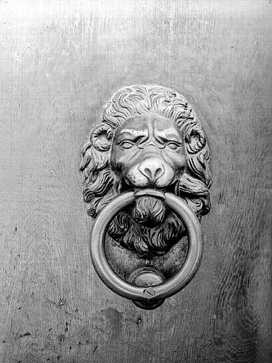 Marteau de porte : lion