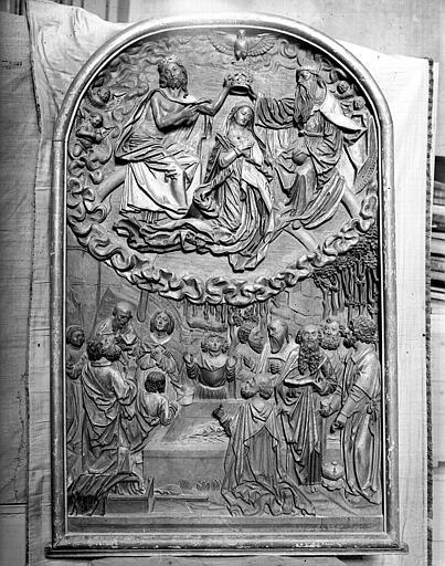 Bas-relief : Assomption, Couronnement de la Vierge