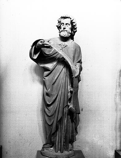 Apôtre tenant un phylactère