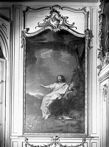 Peinture dans la bibliothèque : saint Jean évangéliste