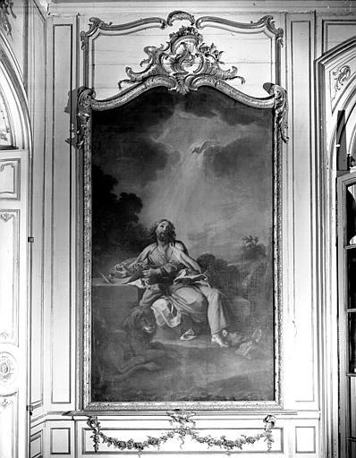 Peinture dans la bibliothèque : saint Marc
