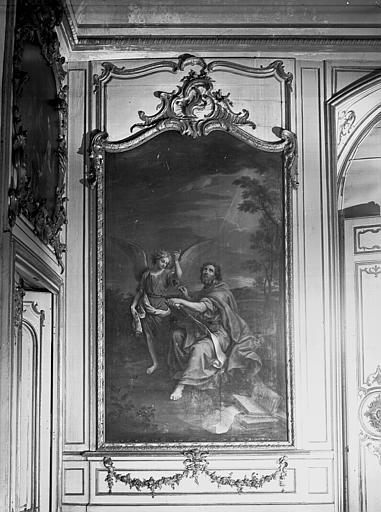 Peinture dans la bibliothèque : saint Matthieu