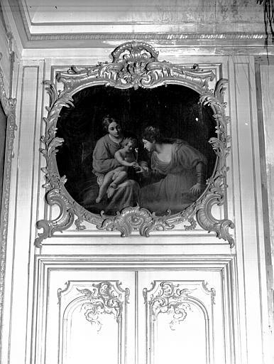 Bibliothèque, dessus de porte : Mariage mystique de sainte Catherine