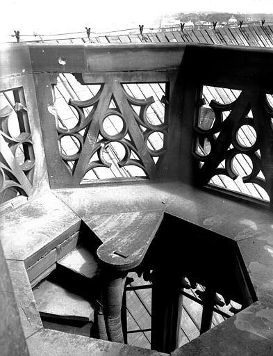 Palier de l'escalier à vis, vu de côté