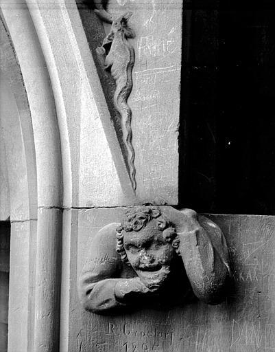 Bas-relief : buste d'homme