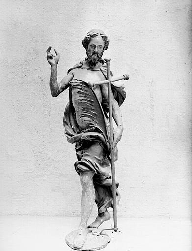 Personnage provenant de l'horloge : saint Jean-Baptiste