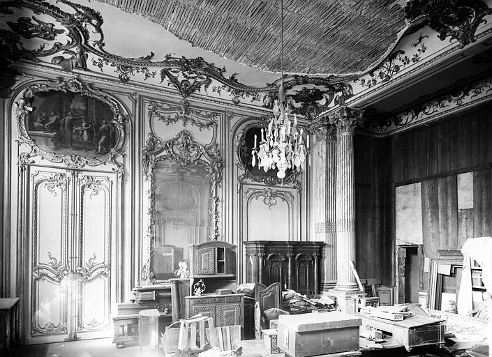 Chambre du Dais : boiseries et plafond doré