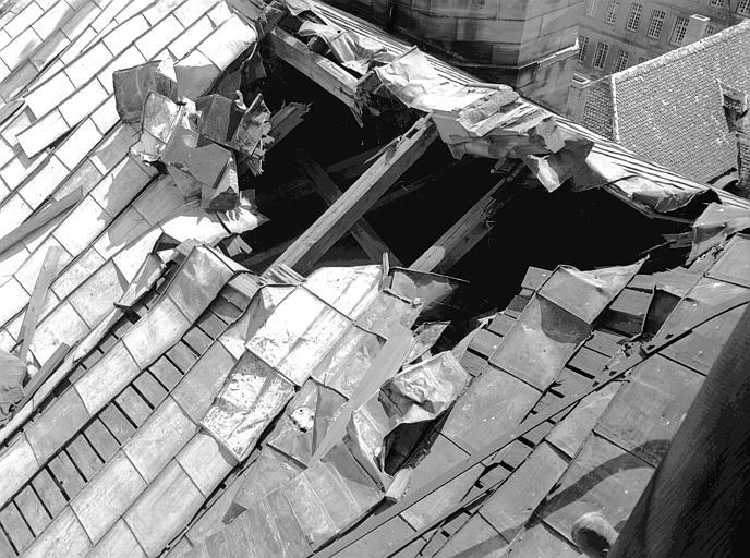 Dégâts de la toiture