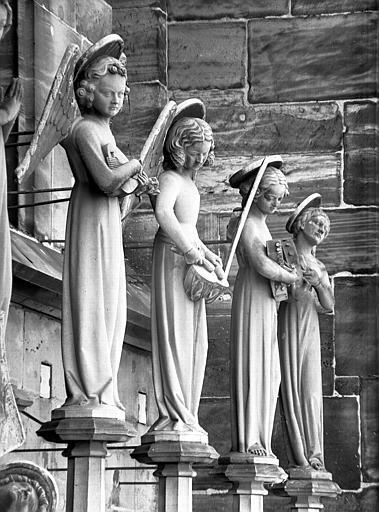 Anges musiciens de la façade ouest