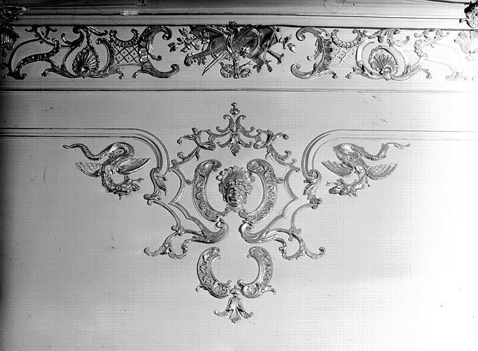 Salle du Conseil : détail de corniche
