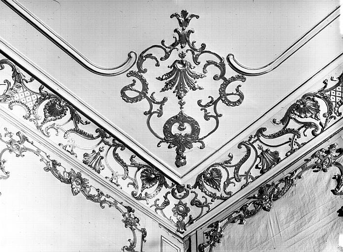 Salle du Conseil : angle de corniche