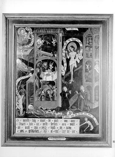 Ecole de peinture strasbourgeoise : la Mort du mauvais Riche et de Lazare