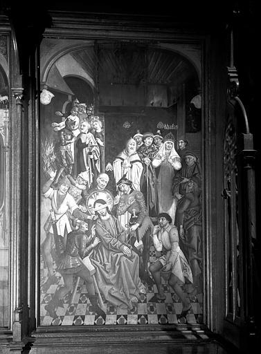 Tableau en bois : le Christ aux outrages