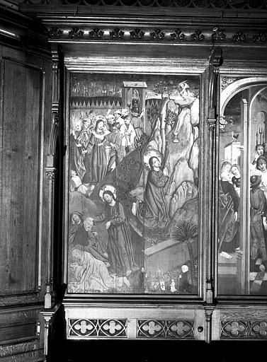 Tableau : Agonie au jardin des oliviers et Arrestation du Christ