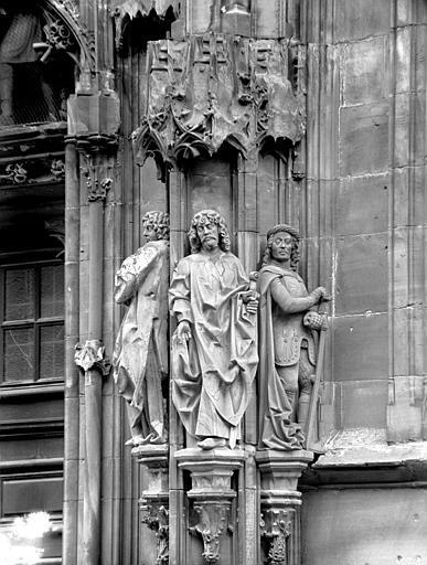 Portail de Saint-laurent : saint Etienne, saint Philippe et saint Maurice