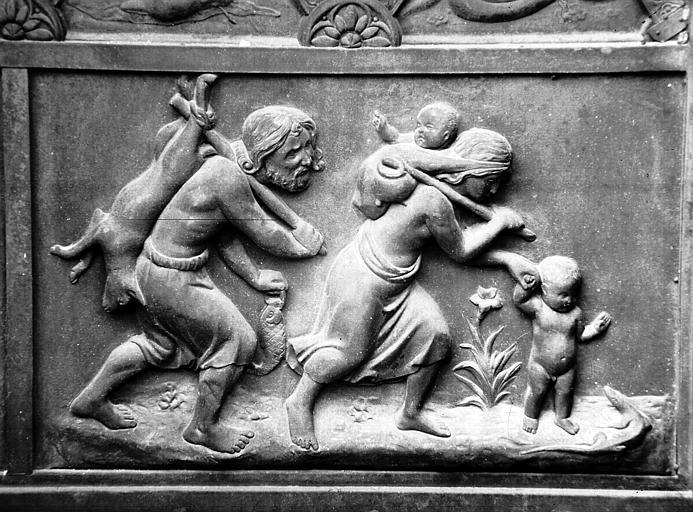 Combats avec les animaux : homme, femme, enfants et animaux