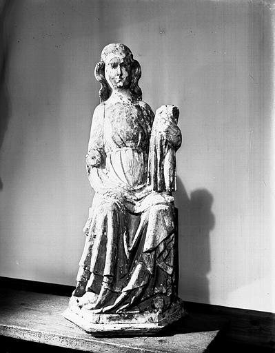 Vierge à l'Enfant, en bois polychromé