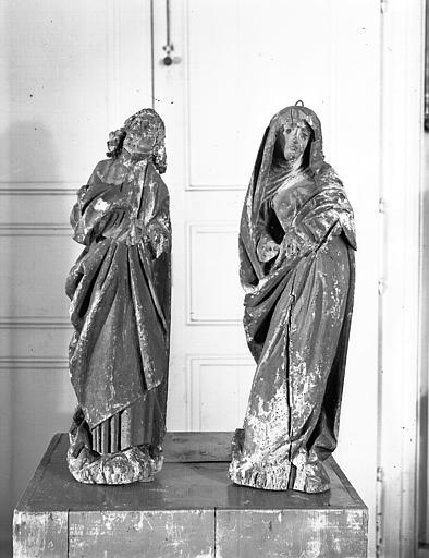 Statues (deux) : Vierge et saint Jean