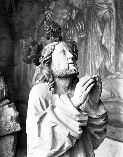 Bas-relief du Mont des Oliviers : figure du Christ