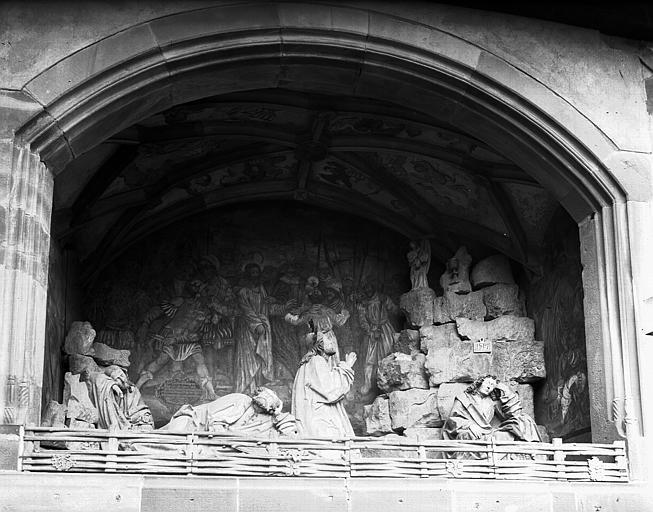 Bas-relief du Mont des Oliviers : ensemble du groupe