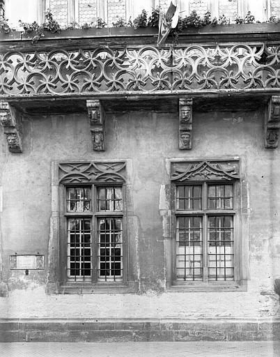 Extérieur, détail de la façade
