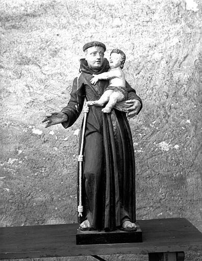Statue de saint Antoine de Padoue, face