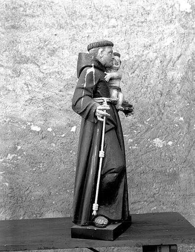 Statue de saint Antoine de Padoue, profil
