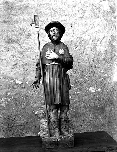 Statue de saint Wondelin, face
