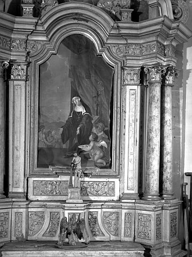 Croisillon sud : autel de sainte Odile
