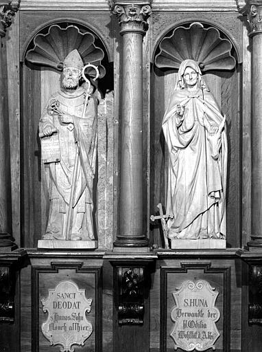 Stalles du choeur côté nord : sainte Richarde et saint Dié