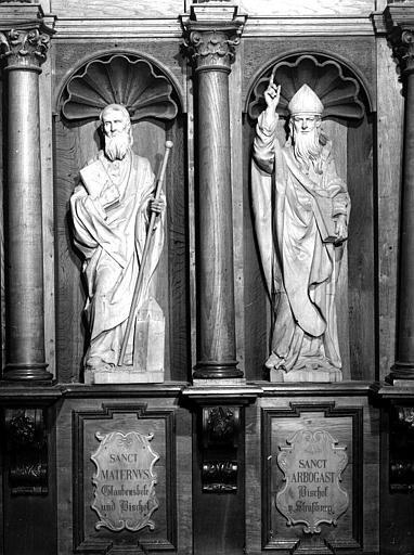 Stalle sud : saint Arbogast et saint Materne