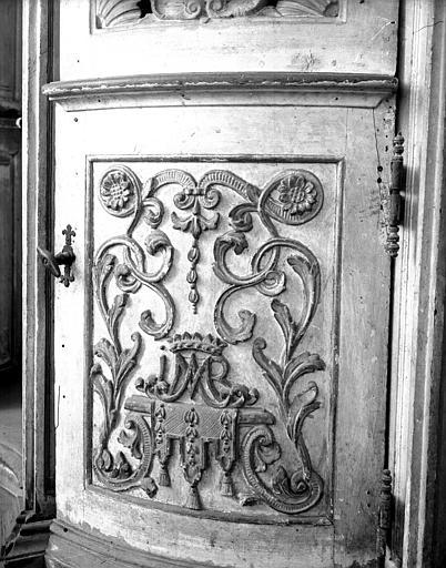 Elément d'une porte de confessional