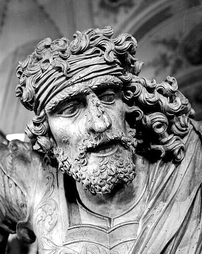 Statue de Samson : tête