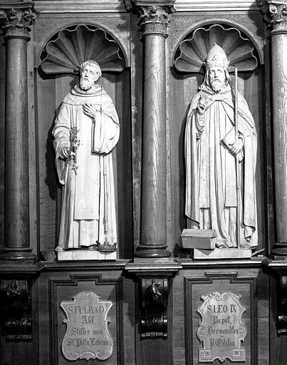 Stalle sud : saint Léon et saint Fulrard