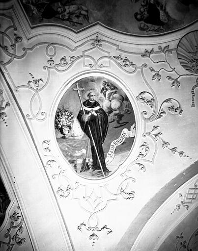 Nef, peinture de la voûte : saint Edmond
