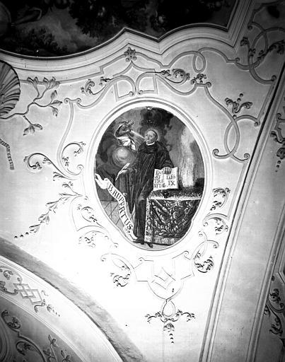 Nef, peinture de la voûte : saint Rupert