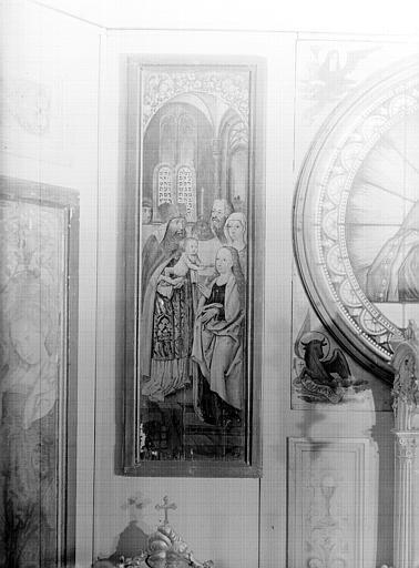Volet d'autel peint : la Présentation
