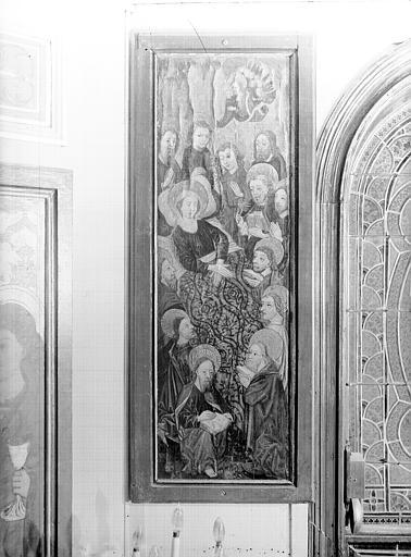 Volet d'autel peint : la Mort de la Vierge