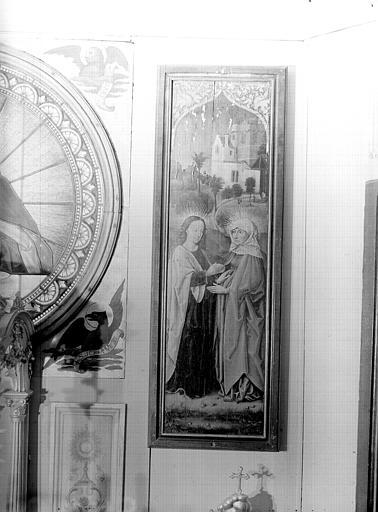 Volet d'autel peint : la Visitation