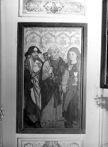 Volet d'autel : saint Pierre, saint Jacques et saint Jean