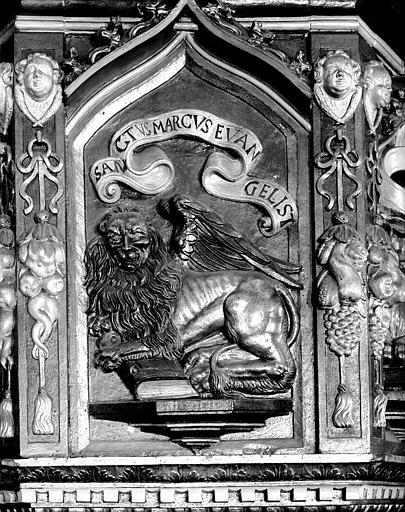 Panneau de chaire : le lion de saint Marc