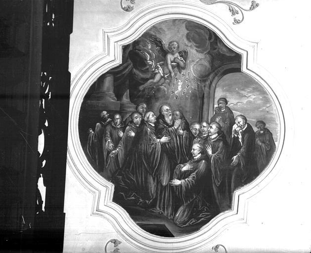 Peinture de voûte : scènes de la vie de saint Benoît