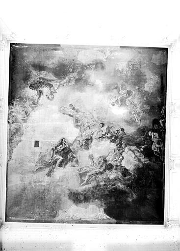 Grand escalier, plafond peint : scène mytologique, l'Olympe