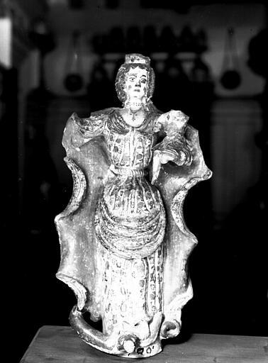 Statuette de céramique : Vierge à l'Enfant, enfant mutilé